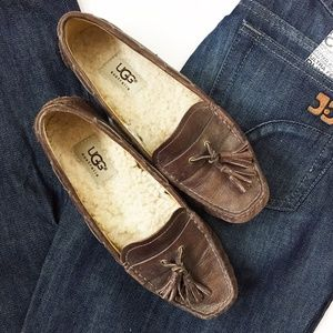 Ugg Brand Tassel Loafers | Brown | Size 5.5